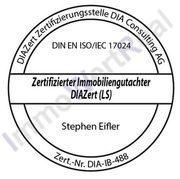 Zertifizierter Immobiliengutacher DIAZert LS DIN EN ISO/ IEC 17024